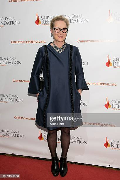 Actress Meryl Streep attends The Christopher and Dana Reeve Foundation's 'A Magical Evening' Gala at Cipriani Wall Street on November 19 2015 in New...