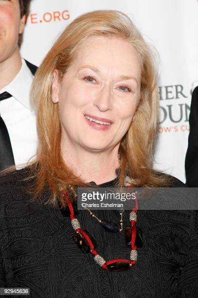 Actress Meryl Streep attends the Christopher & Dana Reeve Foundation's A Magical Evening gala at the Marriot Marquis on November 9, 2009 in New York...