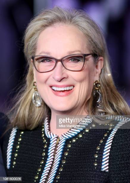 Actress Meryl Streep attends the European Premiere of Mary Poppins Returns at Royal Albert Hall on December 12 2018 in London England
