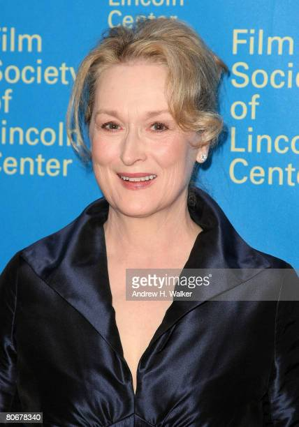Actress Meryl Streep attends the Film Society of Lincoln Center 35th Gala Tribute to herself April 14 2008 in New York City