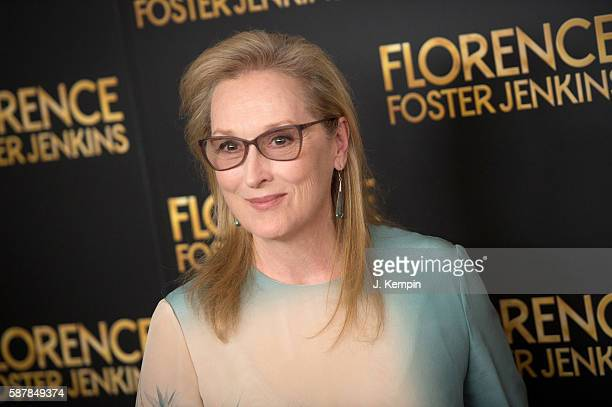Actress Meryl Streep attends the Florence Foster Jenkins New York premiere at AMC Loews Lincoln Square 13 theater on August 9 2016 in New York City