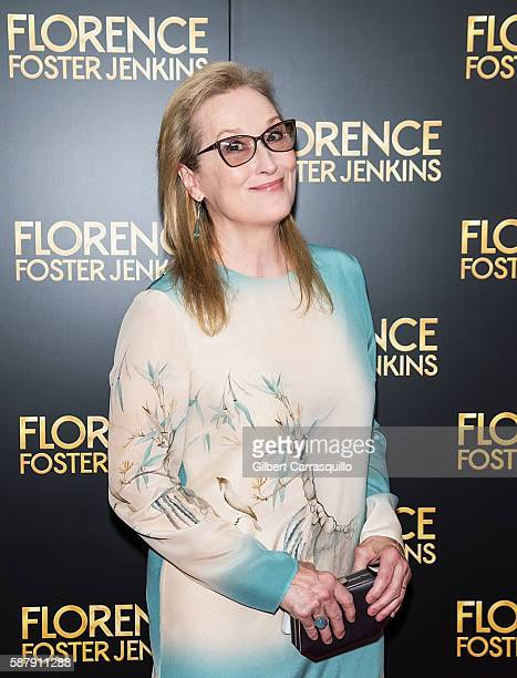 Actress Meryl Streep attends the 'Florence Foster Jenkins' New York premiere at AMC Loews Lincoln Square 13 theater on August 9, 2016 in New York...