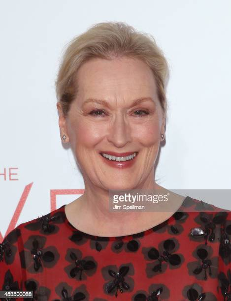 Actress Meryl Streep attends The Giver premiere at Ziegfeld Theater on August 11 2014 in New York City