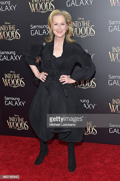 Actress Meryl Streep attends the Into The Woods World Premiere at Ziegfeld Theater on December 8 2014 in New York City