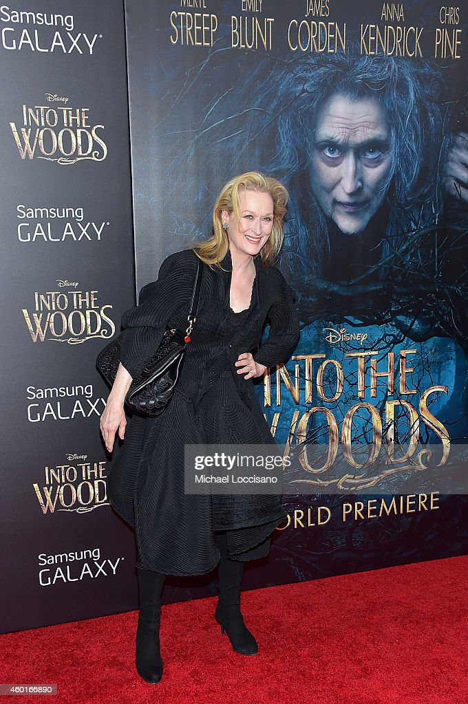 Actress Meryl Streep attends the 'Into The Woods' World Premiere at Ziegfeld Theater on December 8, 2014 in New York City.