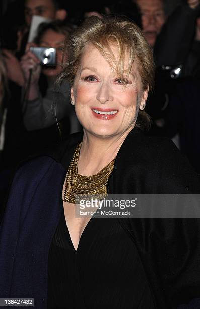 Actress Meryl Streep attends The Iron Lady European film premiere at the BFI Southbank on January 4 2012 in London England