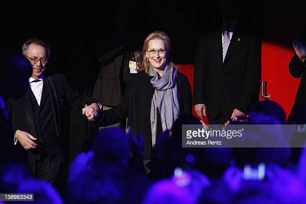 Actress Meryl Streep attends The Iron Lady Premiere during day six of the 62nd Berlin International Film Festival at the Berlinale Palast on February...