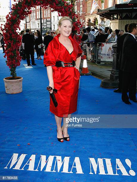 Actress Meryl Streep attends the Mamma Mia The Movie world premiere held at the Odeon Leicester Square on June 30 2008 in London England