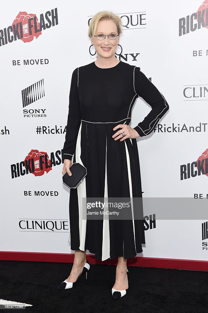 Actress Meryl Streep attends the New York premier of 'Ricki And The Flash' at AMC Lincoln Square Theater on August 3, 2015 in New York City.