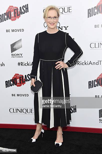 Actress Meryl Streep attends the New York premier of Ricki And The Flash at AMC Lincoln Square Theater on August 3 2015 in New York City