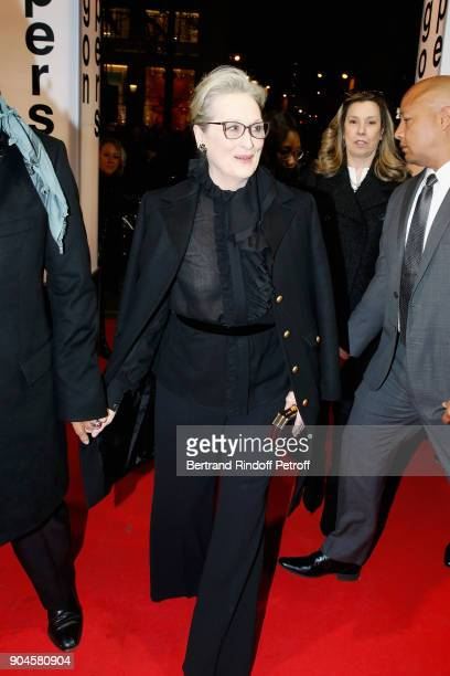 Actress Meryl Streep attends the 'Pentagon Papers' Paris Premiere at Cinema UGC Normandie on January 13 2018 in Paris France