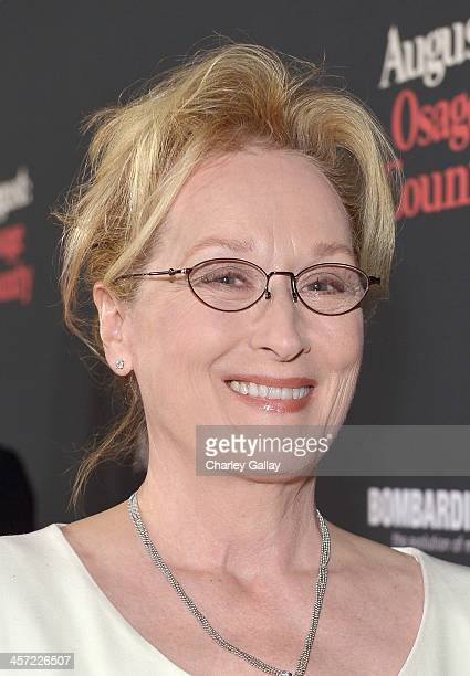 """Actress Meryl Streep attends the LA premiere Of """"August: Osage County"""" presented by The Weinstein Company in partnership with Bombardier at Regal..."""