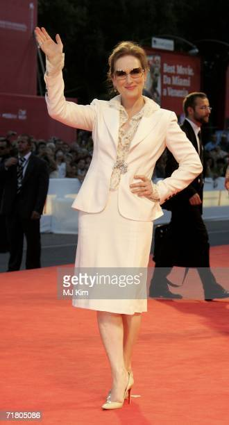 Actress Meryl Streep attends the premiere of the film 'Devil Wears Prada' during the ninth day of the 63rd Venice Film Festival on September 7, 2006...