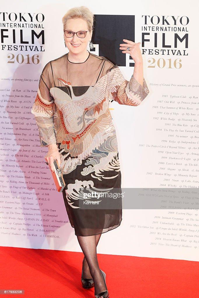 Actress Meryl Streep attends the Tokyo International Film Festival 2016 Opening Ceremony at Roppongi Hills on October 25, 2016 in Tokyo, Japan.