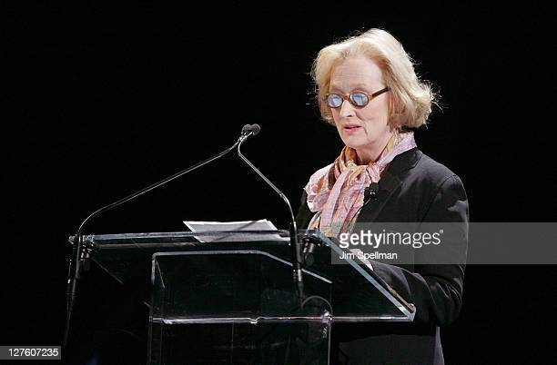 Actress Meryl Streep attends Vassar College's 150th Anniversary Celebration at Jazz at Lincoln Center on February 24 2011 in New York City