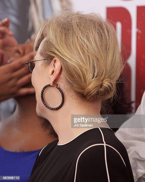 Actress Meryl Streep hair detail attends the Ricki And The Flash New York premiere at AMC Lincoln Square Theater on August 3 2015 in New York City