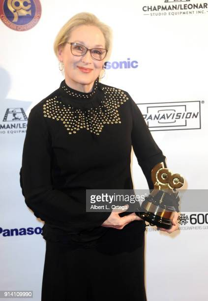 Actress Meryl Streep is honored by the Society of Camera Operators Lifetime Achievement Awards held at Loews Hollywood Hotel on February 3 2018 in...