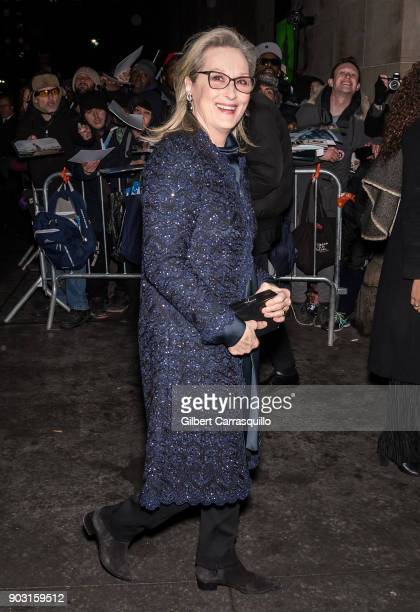 Actress Meryl Streep is seen arriving at the 2018 National Board of Review Awards Gala at Cipriani 42nd Street on January 9 2018 in New York City