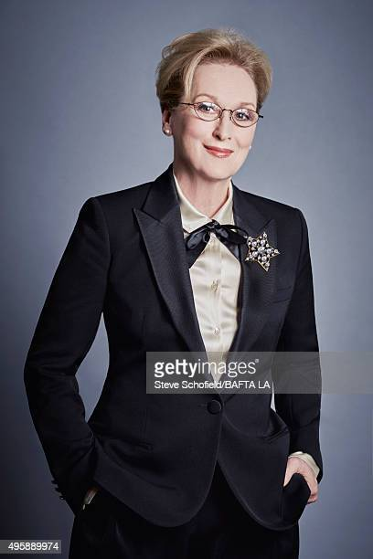 Actress Meryl Streep poses for a portrait at the 2015 BAFTA Britannia Awards Portraits on October 30 2015 at the Beverly Hilton Hotel in Beverly...