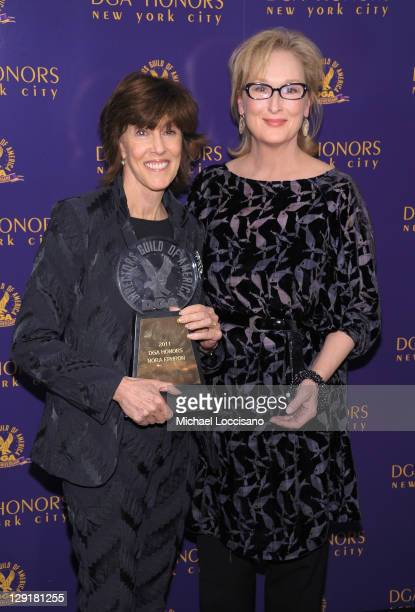 Actress Meryl Streep poses with award recipient Director Nora Ephron at the 2011 Directors Guild Of America Honors at the Directors Guild of America...