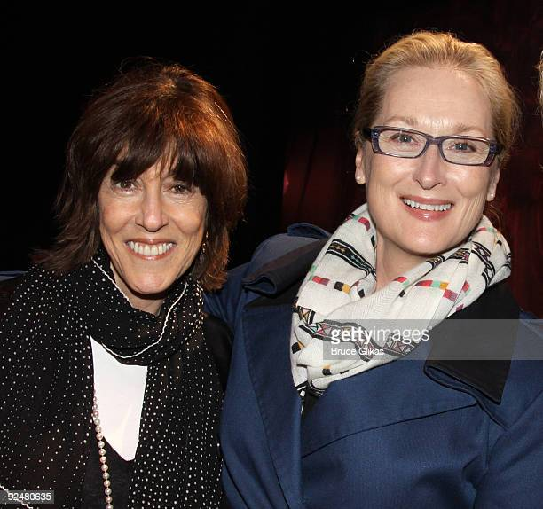 Actress Meryl Streep who portrayed a character based on Nora Ephron's semi-autobiographical novel of the same name 'Heartburn' in 1986 poses with...