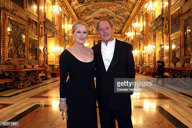 Actress Meryl Streep with her husband Don Gummer attend the Gala Dinner in honour of Meryl Streep during Day 9 of the 4th International Rome Film...