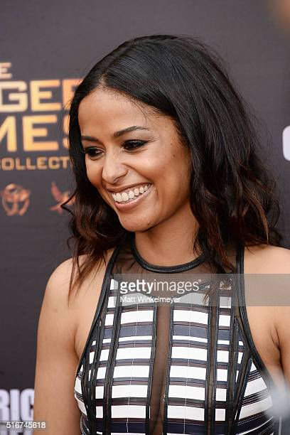 Actress Meta Golding arrives at the Lionsgate's The Hunger Games Mockingjay Part 2 fan event at the Egyptian Theatre on March 20 2016 in Hollywood...