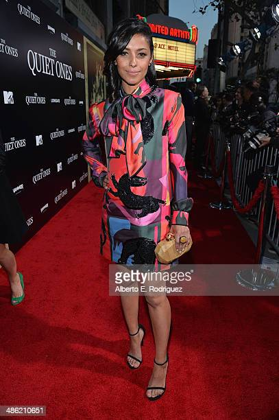 Actress Meta Golding arrives to the Los Angeles Premiere of Lionsgate Films' The Quiet Ones at The Theatre At Ace Hotel on April 22 2014 in Los...