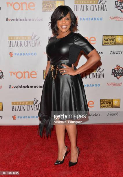 Actress Meta Golding attends the Broadcast Film Critics Association's Celebration of Black Cinema at the House of Blues Sunset Strip on January 7...