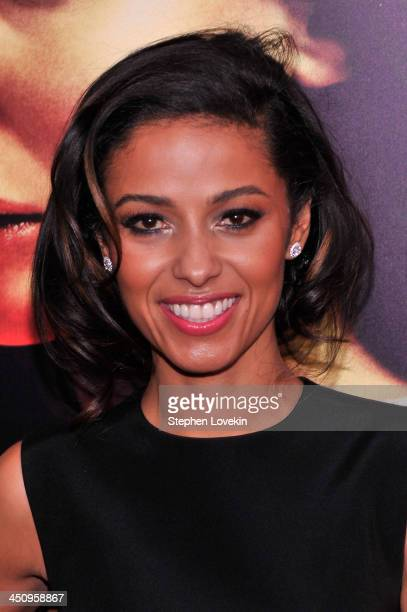 Actress Meta Golding attends the Hunger Games Catching Fire New York Premiere at AMC Lincoln Square Theater on November 20 2013 in New York City