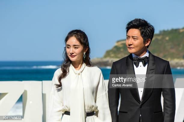 Actress Mi Yang and actor Jingfei Guo attends 'Bao Bei Er ' photocall during 66th San Sebastian Film Festival at Kursaal on September 27 2018 in San...