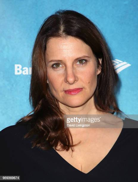 Actress Mia Barron attends the opening night of 'Soft Power' presented by the Center Theatre Group at the Ahmanson Theatre on May 16 2018 in Los...