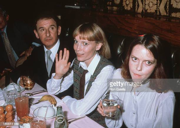 Actress Mia Farrow and sister Tisa Farrow attend the party for Romantic Comedy on November 8, 1979 at Trader Vic's in New York City.