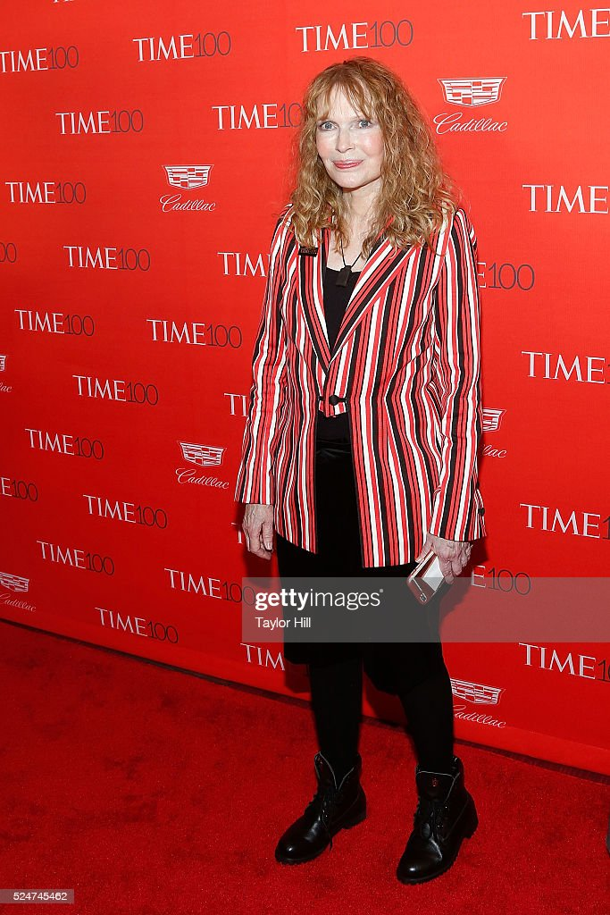 Actress Mia Farrow attends the 2016 Time 100 Gala at Frederick P. Rose Hall, Jazz at Lincoln Center on April 26, 2016 in New York City.