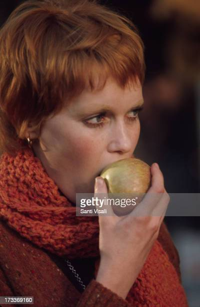 Actress Mia Farrow on the set of John and Mary on January 21969 in New York New York