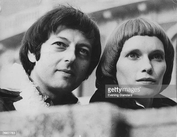 Actress Mia Farrow plays Joan of Arc with the Royal Shakespeare Company Her husband Andre Previn heads the London Symphony Orchestra