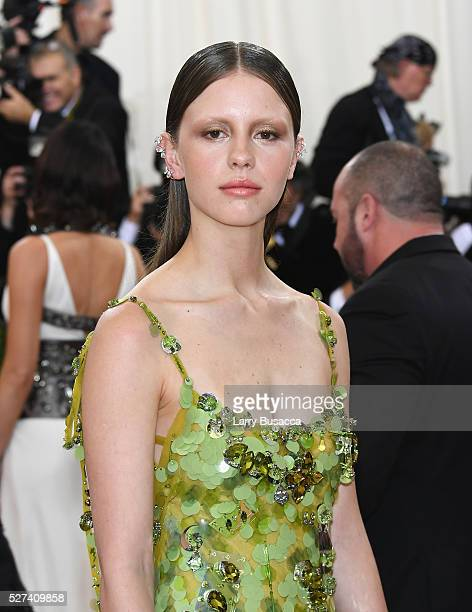 Actress Mia Goth attends the Manus x Machina Fashion In An Age Of Technology Costume Institute Gala at Metropolitan Museum of Art on May 2 2016 in...