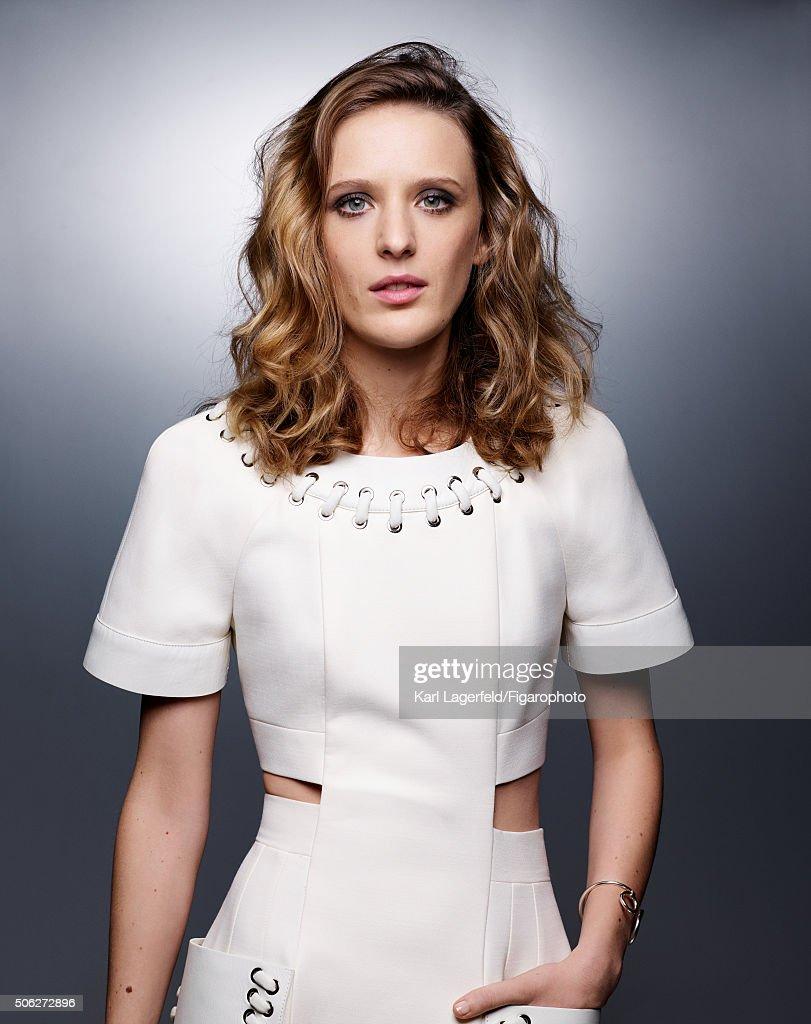 Actress Mia Hansen-Love is photographed for Madame Figaro on November 18, 2015 in Paris, France. Dress (Fendi), bracelet (Hermès). PUBLISHED IMAGE.