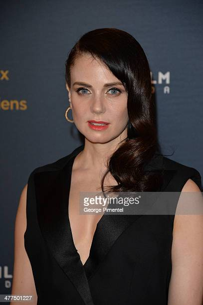 Actress Mia Kirshner arrives at the Canadian Screen Awards at Sony Centre for the Performing Arts on March 9 2014 in Toronto Canada