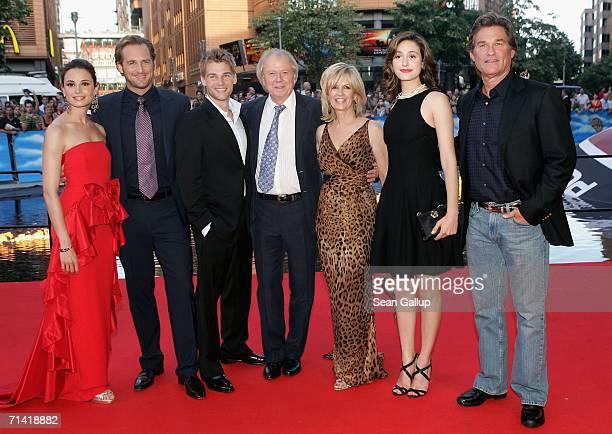 Actress Mia Maestro, actor Josh Lucas, actor Mike Vogel, director Wolfgang Petersen, his wife Maria Petersen, actress Emmy Rossum and actor Kurt...