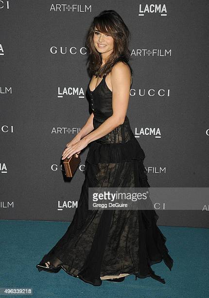 Actress Mia Maestro arrives at the LACMA 2015 ArtFilm Gala Honoring James Turrell And Alejandro G Inarritu Presented By Gucci at LACMA on November 7...