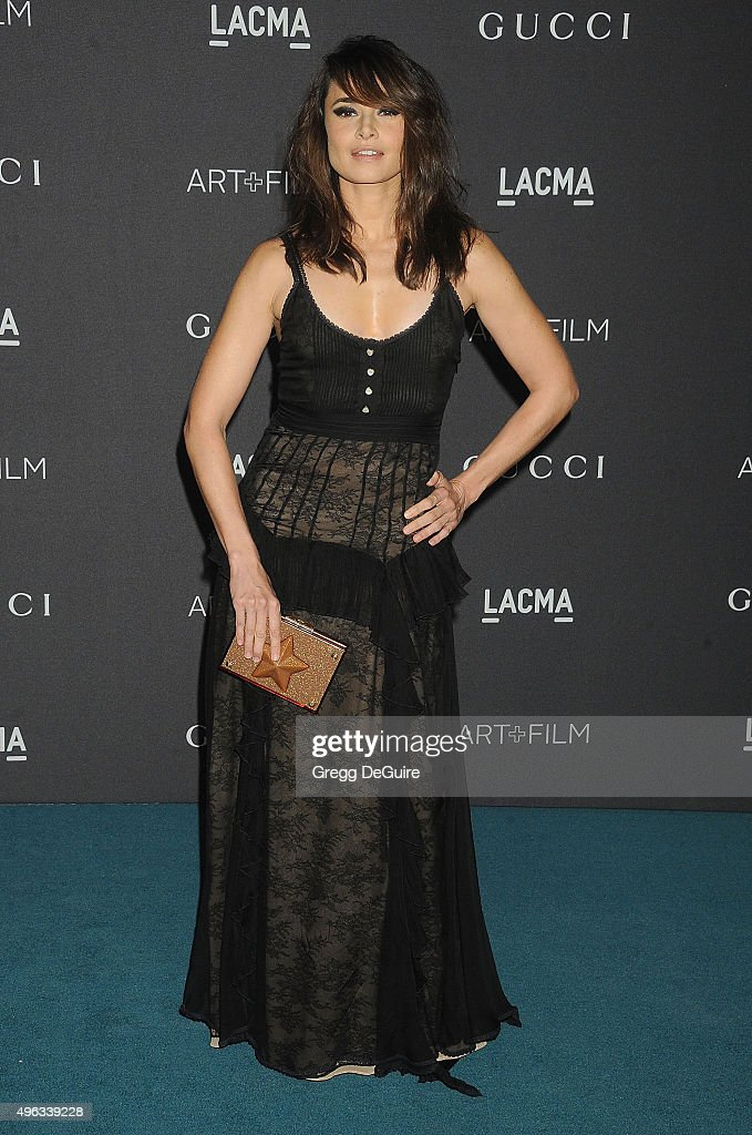 Actress Mia Maestro arrives at the LACMA 2015 Art+Film Gala Honoring James Turrell And Alejandro G Inarritu, Presented By Gucci at LACMA on November 7, 2015 in Los Angeles, California.