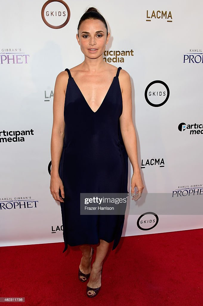 Actress Mia Maestro arrives at the Screening of GKIDS' 'Kahlil Gibran's The Prophet' at Bing Theatre At LACMA on July 29, 2015 in Los Angeles, California.