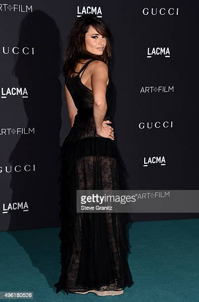 Actress Mia Maestro attends LACMA 2015 ArtFilm Gala Honoring James Turrell and Alejandro G Iñárritu Presented by Gucci at LACMA on November 7 2015 in...