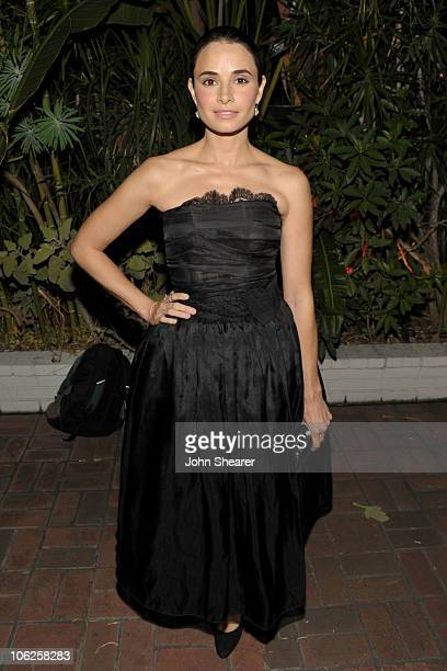 Actress Mia Maestro attends the amfAR Inspiration Gala celebrating men's style with Piaget and DSquared 2 at Chateau Marmont on October 27 2010 in...