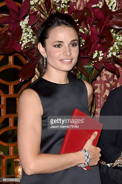 Actress Mia Maestro attends the Tiffany Co celebration of Liz Goldwyn's Sporting Guide book launch at The Los Angeles Athletic Club on October 9 2015...