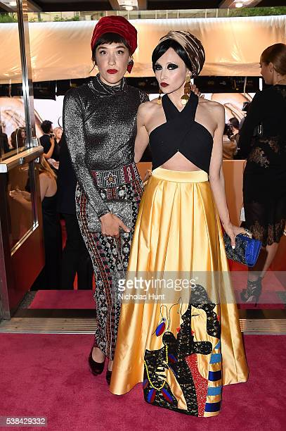 Actress Mia Moretti and designer Stacey Bendet attend the 2016 CFDA Fashion Awards at the Hammerstein Ballroom on June 6 2016 in New York City