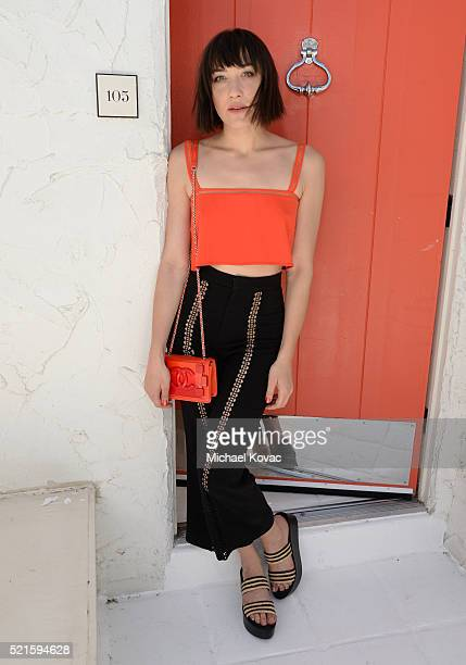 Actress Mia Moretti attends POPSUGAR Cabana Club Pool Party on April 16 2016 in Palm Springs California