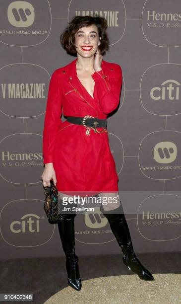 Actress Mia Moretti attends the 2018 Warner Music Group Pre Grammy Celebration at The Grill The Pool Restaurants on January 25 2018 in New York City