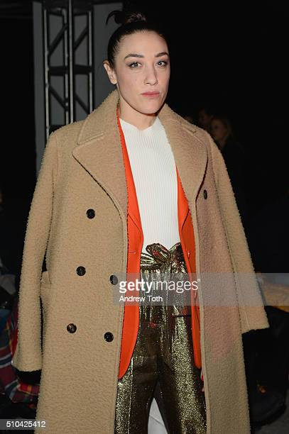 Actress Mia Moretti attends the 31 Phillip Lim Fall 2016 fashion show during New York Fashion Week at Skylight Clarkson Sq on February 15 2016 in New...